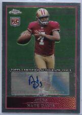 2009 Topps Chrome Nate Davis Autographed Rookie #TC193 San Francisco 49ers