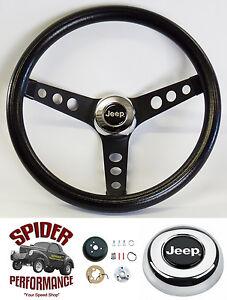 "1976-1986 Jeep CJ7 steering wheel 13 1/2"" CLASSIC BLACK"