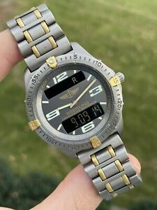 BREITLING AEROSPACE TITANIUM AND GOLD