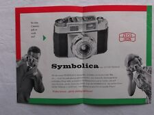 Alte Reklame auf Papier - Photografica - Symbolica mit Zeiss Tessar   /S83