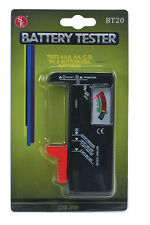 Battery Tester Universal, tests Aaa, Aa, C, D, 9V & Button Cell, Usa Seller