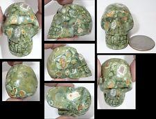 "Australian RAINFOREST JASPER Crystal Skull w/ Weird Vug, Agate ""Window""! S15458"