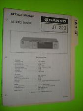 Sanyo jt 220 service manual original repair book stereo am/fm tuner radio
