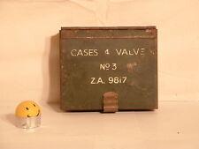 WW2  Wireless Set No.18, WS18 Cases 4 Valves  No.3, ZA. 9817, c/w Original Liner