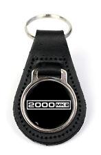 Triumph 2000 MK2 Logo Quality Black Leather Keyring