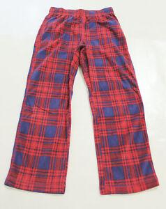 Gap Kids Boy's Mix Match Pajama Sleep Pants BM6 Red Blue Plaid Size 8 NWT