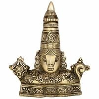 Tirupati Balaji/Venkateswara Swamy Brass Idol Statues (5.5 x 1 x 6.5 Inches)