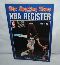 1981-82 Nba Basketball Register, Sporting News, Dr. J., Julius Erving