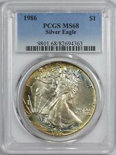1986 American Silver Eagle PCGS MS68 - Toning