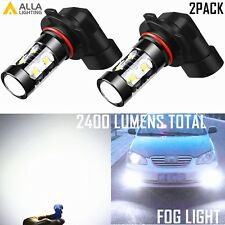 Alla Lighting 50W-SMD LED Fog Light Bulb Driving Lamp Replacement 6000K White 2x