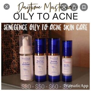 Senegence Oily To Acne DayTime Facial  Moisturizer ~ Full Size Acne Skin Care