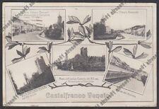 TREVISO CASTELFRANCO VENETO 24 VEDUTINE Cartolina viaggiata 1918