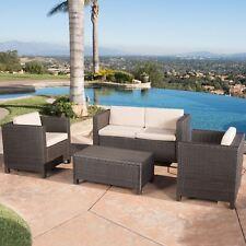 Puerta Grey Outdoor Wicker Sofa Set