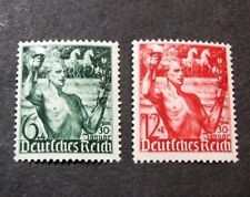 Germany Stamp Scott# B116-B117 Youth Carrying Torch and Laurel 1938 Mnh L98