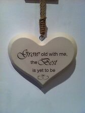 Personalised Wooden Family/love Heart Plaque Friend Gift Anniversary Wedding