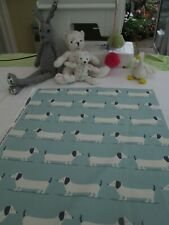 BN Pretty Fryetts Cotton Duck Fabric Remnant In Hound Dog Blue