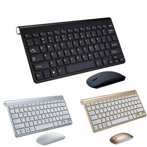 US Mini Wireless Keyboard + Mouse Set Bundle For Apple iMac Laptop PC & Computer
