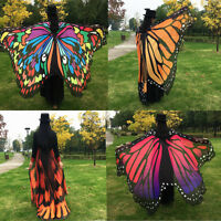 Hot Women Fashion Wrap Shawl Stole Scarves Long Soft Chiffon Butterfly Wing Cape