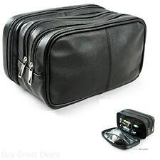 Black Toiletry Travel Bag Shave Kit Organizer Dopp Shaving Accessory For Men XL