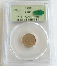 ✰ 1865 PROOF US 3 CENT NICKEL Coin PCGS PR65 CAC OGH Lovely KEY DATE 500 Minted✰
