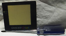 GameBoy Color (GBC) Replacement Screen Protector (Lens, Cover) +Triwing Driver