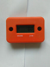 Inductive Hour Meter for Marine Dirt Ski ATV Motorcycle Honda Snowmobile Orange