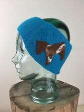 HORSE HEADBAND - Winter , Knit, Blue, Ear Warmers, Felted, Handmade, MUST SEE!