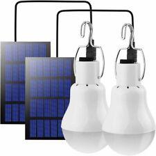 2x LED Solarleuchte Glühbirne Zeltlicht Camping Garten Lampe mit Solar Panel DHL