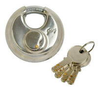 Stainless Steel Discuss Padlock Hardened Stainless High Security Dimple Lock