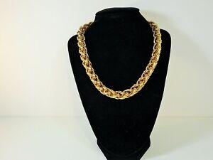 Napier Heavy Shiny Gold tone Necklace