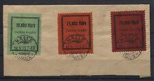 Gebührenmarken Halle auf Briefstück (B05448)