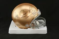 Raghib Rocket Ismail SIGNED Notre Dame Irish Mini Helmet PSA/DNA AUTOGRAPHED
