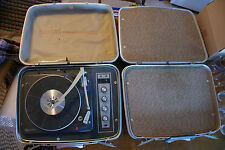 Old Vintage Suitcase Record Player Masterwork Fidelity Garrard Stereo Phonograph