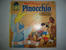 Walt Disney's The Story of Pinocchio Disneyland Book & Record-1977