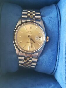 Rolex Mens Date 14k Yellow Gold Stainless Steel Jubilee