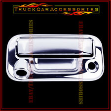 For FORD F150 2004-2012 2013 2014 Chrome Tailgate Handle Cover Keyhole & Camera