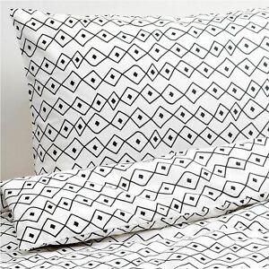 IKEA VRESALM King Size Duvet Cover & Pillow Cases, ( White & Black )