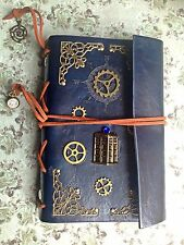 Leather Notebook Journal RPG inspired by Tardis Police Box Doctor Who Steampunk