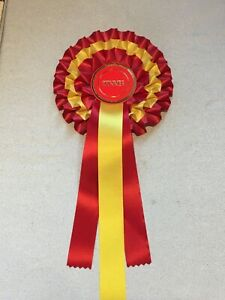 1 x 3 tier rosette,  award ribbon, LOTS of centre choices 1st, birthday, hen