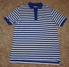 Mens Lacoste Polo Shirt Size 8 or XXL Color Royal Blue White Stripe Short Sleeve