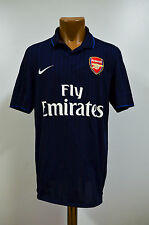 Taille m arsenal londres 2009/2010 away football shirt jersey nike angleterre