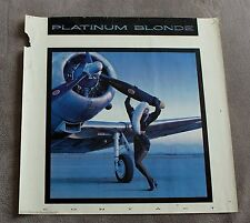 Platinum Blonde Contact 1987 CBS Records PROMO Canada Toronto Music Poster G C4
