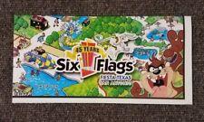 Six Flags 45th Anniversary Map Fiesta Texas San Antonio 2006 33x22 NEW