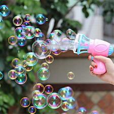 3IN1 Bubble Blower Fan Machine Toy Kids Soap Water Bubble Gun Summer Outdoor