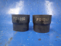 LOT OF 2 Straight Rubber Reducers Donaldson P104090