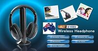 Wireless Headphones FM Hi-Fi Headset for TV Stereo MP3 PC CD DVD Headphone New