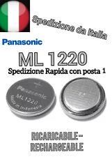 Pila Bios CMOS Battery ML1220 ORIGINAL PANASONIC RICARICABILE RECHARGEABLE