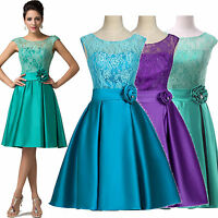 HOT Vintage Knee-Length Evening Bridesmaid Cocktail Ball Gowns Party Prom Dress