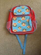 "PAUL FRANK Julius 16"" Red/ Blue Backpack New"