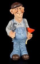 Comic Figurine décorative polyfigur plombier istallateur avec traits du visage